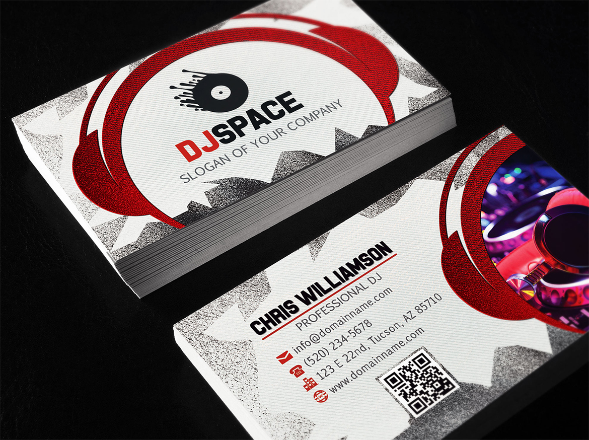 Dj business card unlimitedgamers dj business cards reheart Image collections