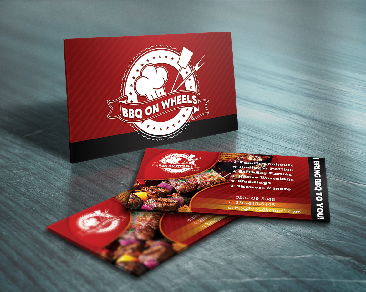 BBQ On Wheels Business Card - Chris Williamson